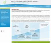 A view of the on-line NETSSAF tutorial showing the 7 steps.